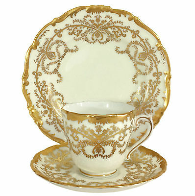 Coalport 'Anniversary' Pattern Demitasse Trio (Cup Saucer Plate) - 12 Available