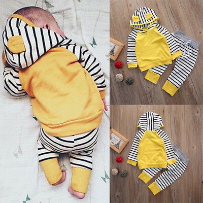 Newborn Baby Infant Boy Girl Romper Jumpsuit Bodysuit Outfit Hooded Clothes New