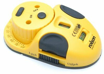 Rolson 3 In 1 Swivel Laser Level Mouse Shape Angle Scale Laser Cross Line Point