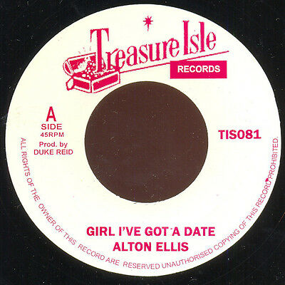 "Alton Ellis ‎– Girl I've Got A Date / Blackmans Word 7"" MINT Treasure Isle ‎SKA"