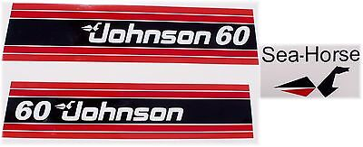 Johnson Outboard Hood Decals 1981 60hp 2 cyl