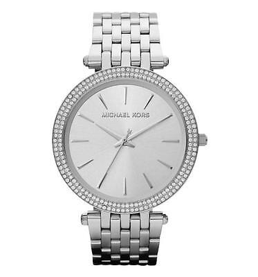 c53dac05ce55 Michael Kors Darci Stainless Steel Crystal Accented Bracelet Watch Mk3190