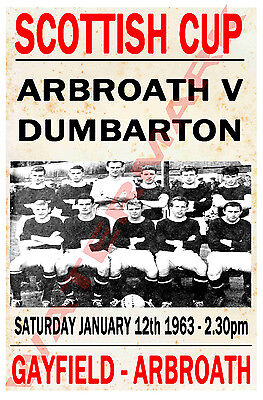 Arbroath - Vintage Football Poster POSTCARDS - Choose from list