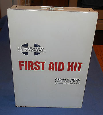 Vintage  Otis Capp & Son  Steel Wall Mount Industrial First Aid Cabinet