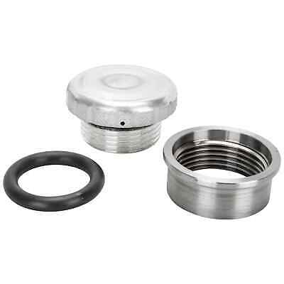 Cast Aluminum Knurled Gas / Oil Cap With Weld-In Steel Bung chopper bobber cafe