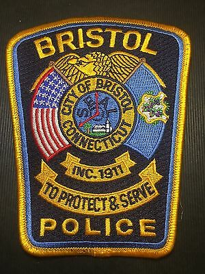 Bristol Connecticut  Police  Shoulder  Patch