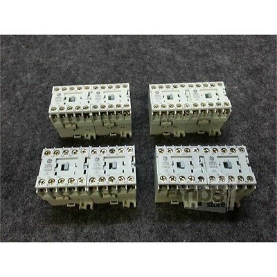 Lot of 4 General Electric CR6CB Reversing Contactors, 110-120V 60Hz