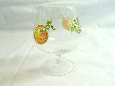 Vintage Grand Marnier Fruit Etched/Painted Snifter Cognac Glass