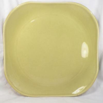 Russel Wright American Modern Chop Plate Square Platter Chartreuse Steubenville