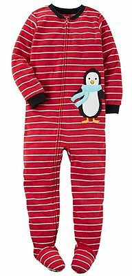 NWT ☀FOOTED FLEECE☀ CARTERS Boys PENGUIN Pajamas 12m  24m 2T 3T 4T