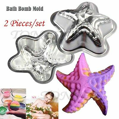 Crafting Metal Bath Bomb Mold Bath Fizzy Starfish Shape DIY Metal Molds Set of 2