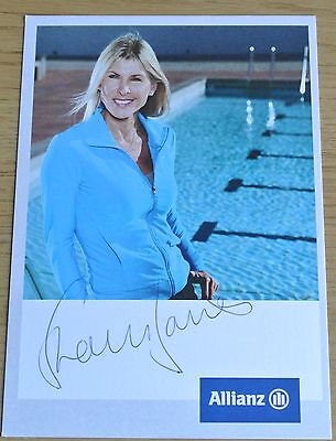 Sharron Davies Signed Autograph Official Photo Card Olympic Swimming & COA