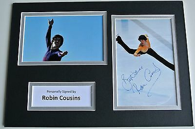 Robin Cousins SIGNED autograph A4 Photo Mount Display Olympic Ice Skating & COA