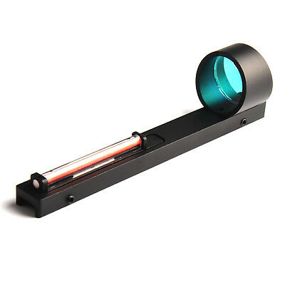 Red Fiber Red Dot Sight Scope Holographic Sight Fit Shotgun Rib Rail Hunting