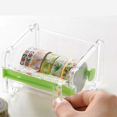New Desktop Tape Dispenser Tape Cutter Washi Tape Dispenser Roll Tape Holder UK