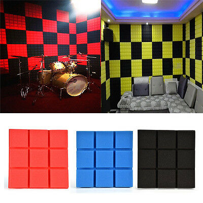 Studio Acoustic Foam Sound Absorbtion Proofing Panel Wedge 30X30CM Wall Decor