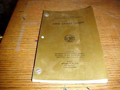 Vintage 1974 California Mine Safety Orders Book