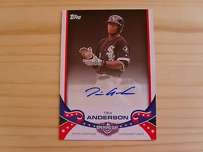 Topps Opening Day 2017 Baseball Cards - Autographs Card - ODA-TA Tim Anderson
