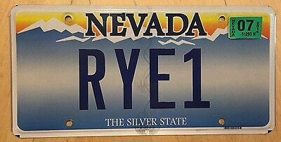 "Nevada Vanity License Plate "" Rye 1 "" Bread Sandwich New York Westchester County"