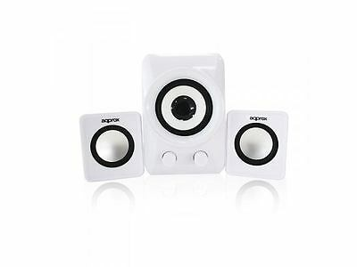 Approx  (APPSP21MW) 2.1 Multimedia Mini Speakers 10W RMS White