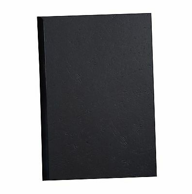 Exacompta A4 Black Binding Covers - 10 Sheets. 270g Recycled Leathergrain Card.