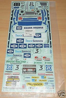 Tamiya 58632 Team Hahn Racing MAN TGS/TT-01E, 9495886/19495886 Decals/Stickers