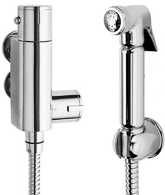 Douche Kit Bidet Toilet Thermostatic Valve With Brass Chrome Shower Muslim Spray