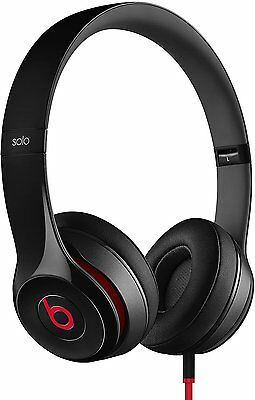 Beats Solo2 B0518 Wired Foldable On-Ear Headphones with RemoteTalk *Black* B+