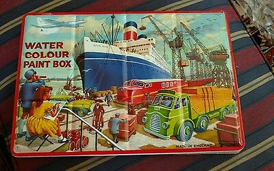 Vintage Water Color Metal Paint Box Made In England Page London Shipyard