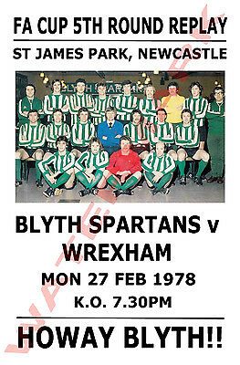 Blyth Spartans - Vintage Football Poster POSTCARDS - Choose from list