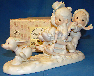Precious Moment Figurine, 109819 Oh What Fun It Is To Ride MIB