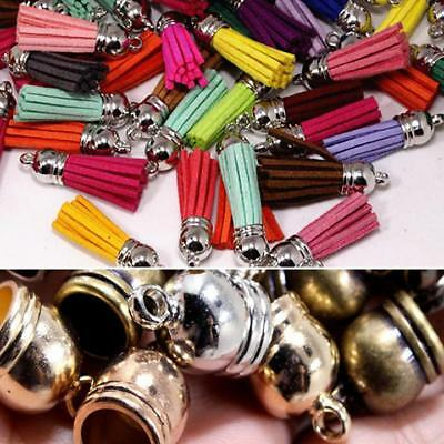 Jewelry  Accessories 50pcs End Cap Beads Findings Caps Brass Bell Bronze Cord