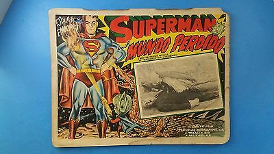 Rare Vintage Original SUPERMAN IN THE LOST WORLD Mexican Lobby Card