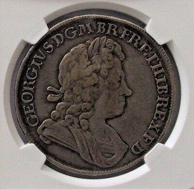 1716 Great Britain Crown Plumes & Roses; NGC VF30 George I; KM# 545.1