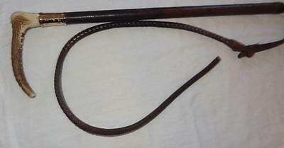 9 Carat Solid Gold Mounted Riding Crop by SWAINE ADENEY- Dated 1922