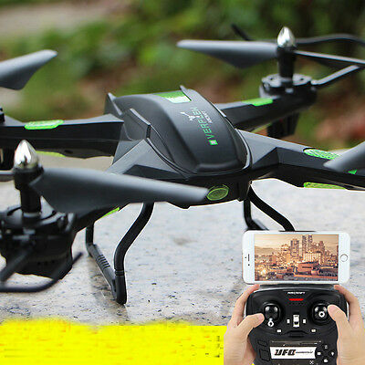 New HD Camera Drone Quadcopter 2.4Ghz Wifi PFV  6-Axis Gyro One Key Return