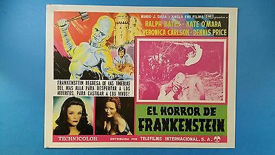Rare Vintage Original THE HORROR OF FRANKENSTEIN(1970) Mexican Lobby Card