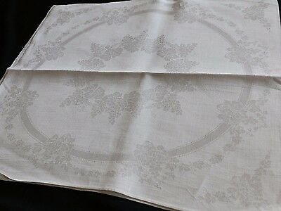 Set of 5 Linen Damask Napkins Beautiful Grapes Pattern 21""