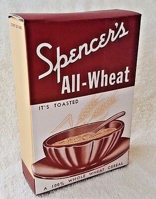 Vintage 1930's Cereal Box Spencers All Wheat Art Deco Advertising Package