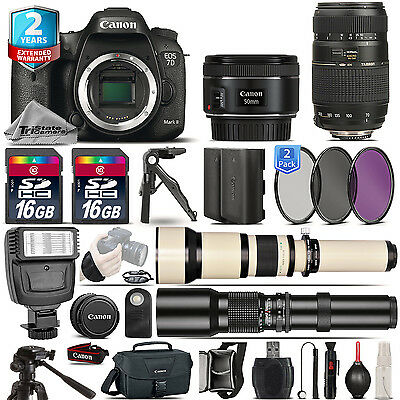 Canon EOS 7D Mark II Camera + 50mm 1.8 STM + 70-300mm + EXT BATT + 2yr Warranty