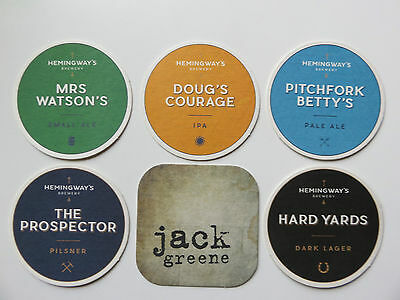 Beer Coasters Hemingway's  Boutique Brewery Australia - Free Post Aust.