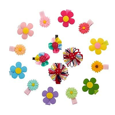 16pcs Baby Toddler Kid Girls Hair Clips Small Sunflower Daisy Flowers Hair Grips