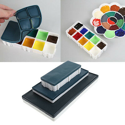 10/24/36 Grids Watercolor Paint Tray Artist Plastic Drawing Palette Art Supply