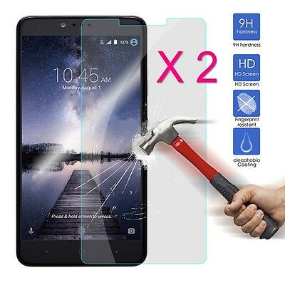 2x 9H Explosion Proof Tempered Glass Screen Protector Film For ZTE ZMax Pro Z981