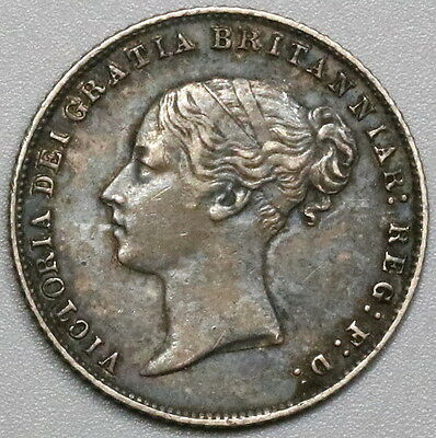 1866 Victoria Silver 6 pence Die 18 Great Britain Coin (17040411R)