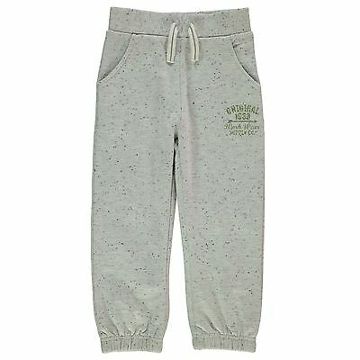 Crafted Kids Fashion Joggers Jogging Bottoms Boys Marl Ribbed Print
