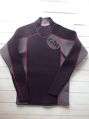 Gill Sailing mens new size large wetsuit top grey/black
