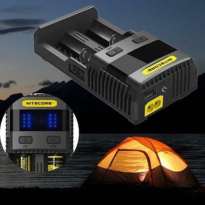 For NITECORE SC2 SUPERB CHARGER 3A Fast charge IMR 18650 16340 14500 AA AAA AB