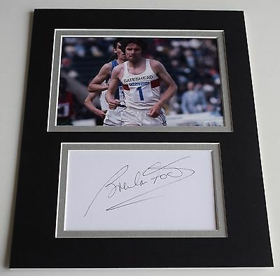 Brendan Foster Signed Autograph 10x8 photo display Olympics Long Distance COA