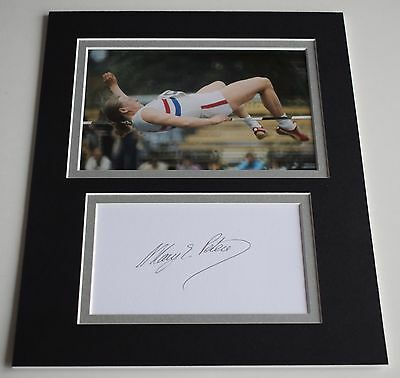 Mary Peters Signed Autograph 10x8 photo display Olympics Pentathlon AFTAL COA